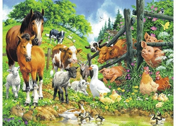 Animal Get Together Puzzle - 100pc