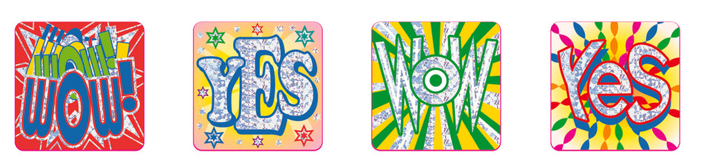 Wow - Foil Stickers