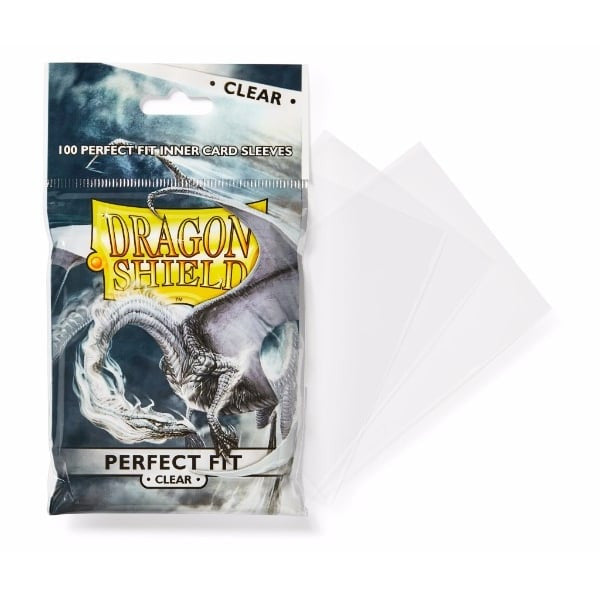 100 Card Sleeves - Perfect Fit Clear Standard