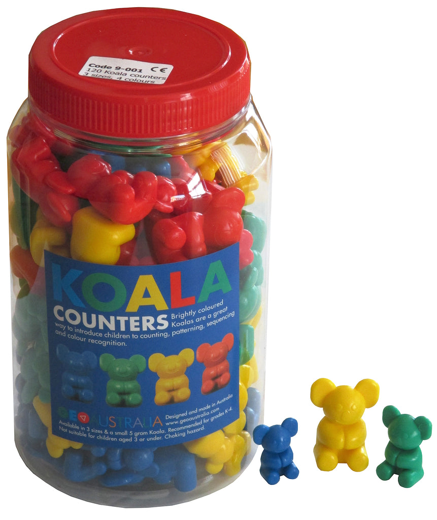 Jar of Koala Counters Multi-Size 120 pcs
