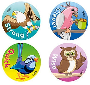 Clever Birds - pk 96 Merit Stickers