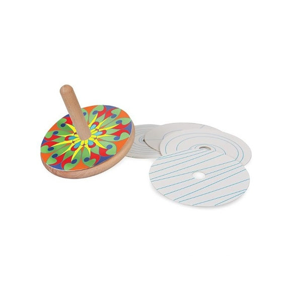 Colour & Spin Wooden Top