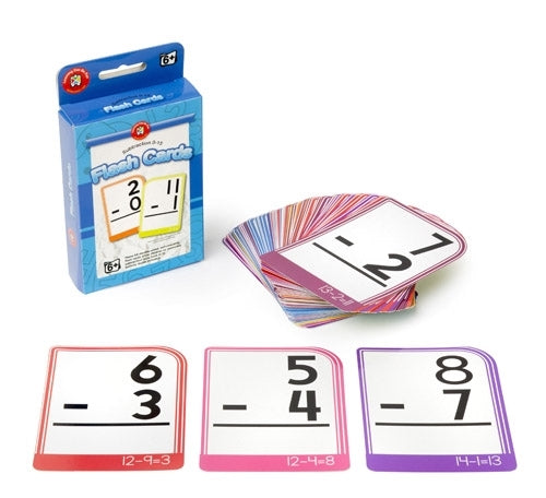 Flash Cards - Subtraction 0 to 15
