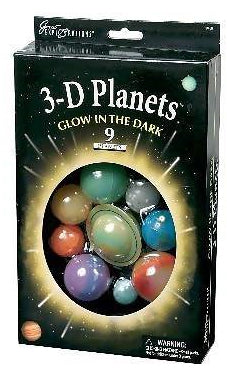 Glowing 3-D Planets Boxed Set