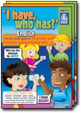I have who has – English Ages 5-7