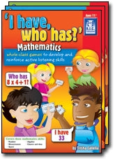 I have who has – Mathematics Ages 5-7