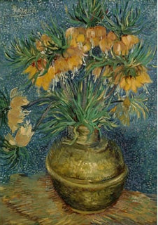 Imperial Fritillaries in a Copper Vase - Wentworth Puzzles 40 pc