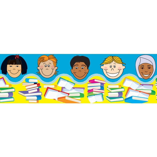Kids and Books - Self Adhesive Pop Apart Border (Pack of 12)