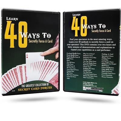 Learn 40 Ways to Secretly Force a Card - DVD
