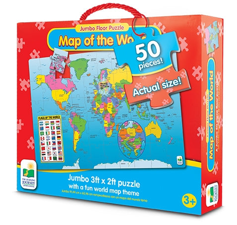 Map of the World - Jumbo Floor Puzzle