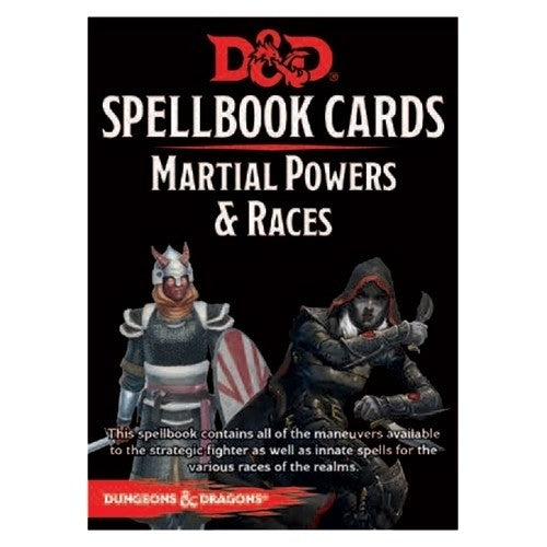 Martial Powers & Races Deck - D&D Spellbook Cards 2017 Edition (61 Cards)
