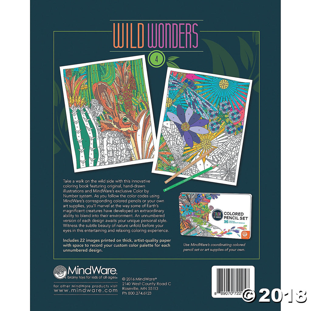 Colour by Number - Wild Wonders 4