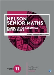 Nelson Senior Maths 11 Essential Student Book with NelsonNetBook Access Code