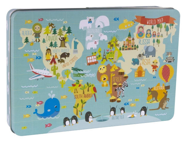 World Map Puzzle 24pc