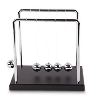 Newtons Cradle - Metal Frame - Large