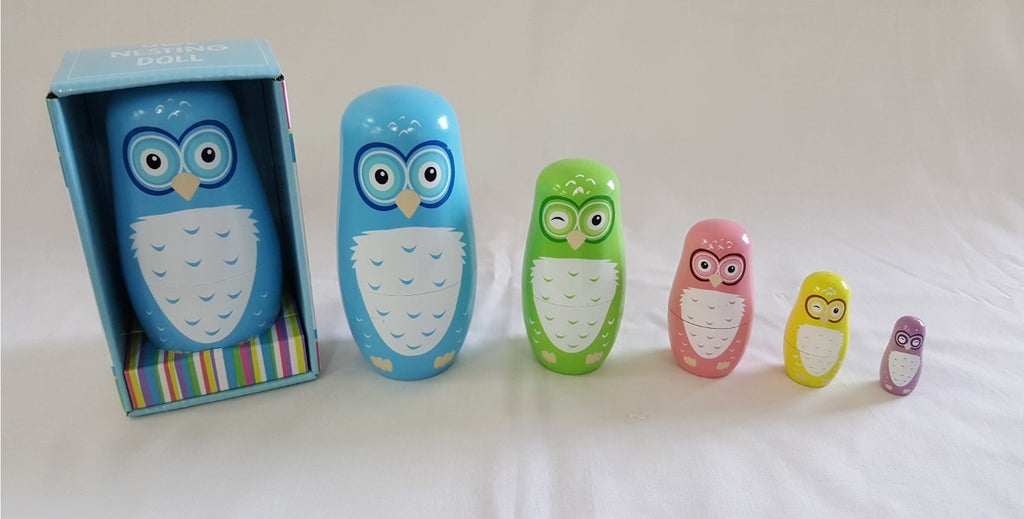 Owl Nesting Dolls 5pc