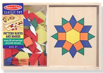 Pattern Blocks and Boards 120pc