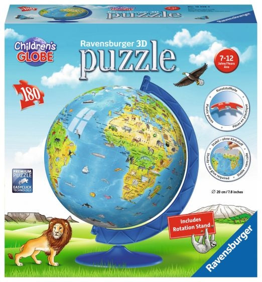 Childrens Globe PuzzleBall & Stand 180pc