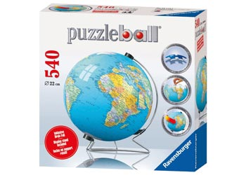 World Globe 3D PuzzleBall 540pc
