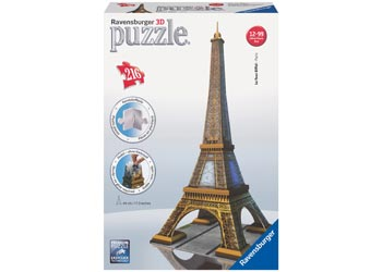 Eiffel Tower 3D Puzzle 216pc