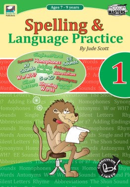 Spelling and Language Practice Book Book 1