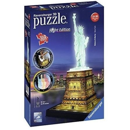 Statue of Liberty Night 3D Puzzle 108pc