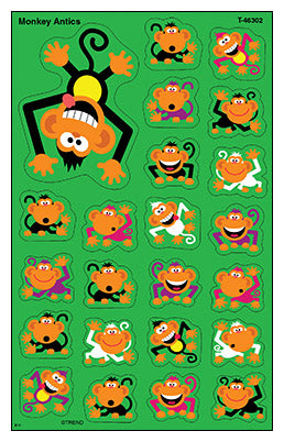 Monkey Antics - SuperShapes Stickers Large