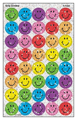 Silly Smiles - SuperSpots Stickers Sparkle