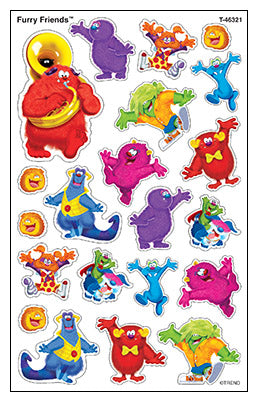 Furry Friends - SuperShapes Stickers Large