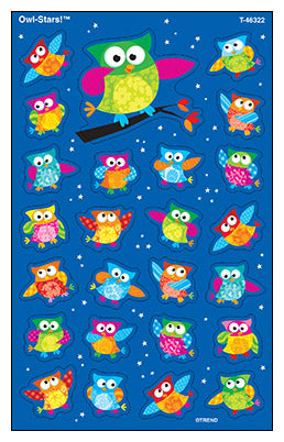 Owl-Stars - SuperShapes Stickers Large