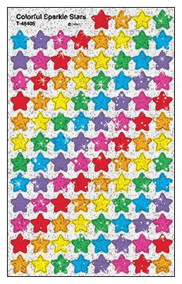 Colorful Stars - SuperShapes Stickers Sparkle