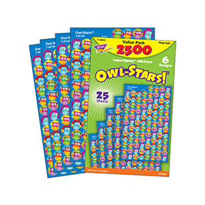 Owl Stars - Super Spot Stickers Value Pack