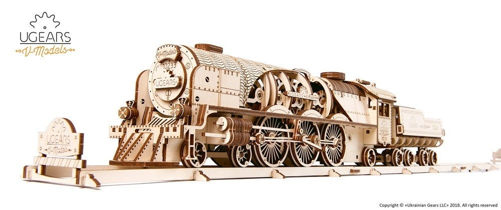 V-Express Steam Train and Tender - uGears
