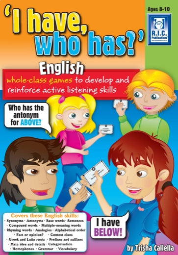 I have who has – English Ages 11+