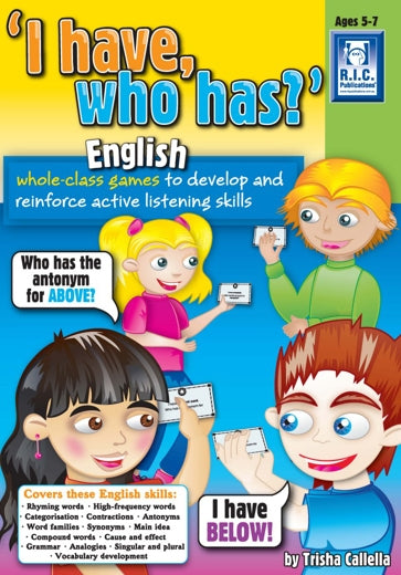 I have who has – English