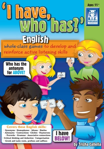 I have who has – English Ages 8-10