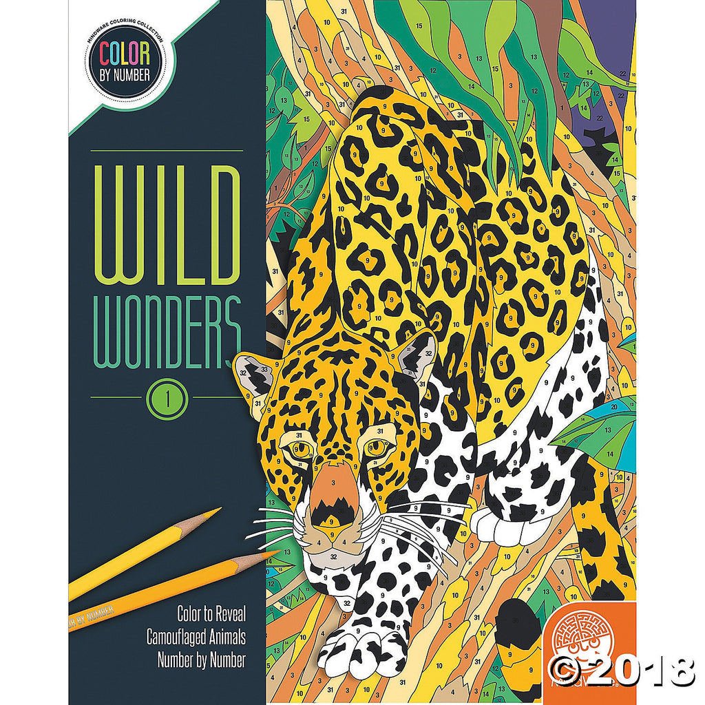 Colour by Number - Wild Wonders 1