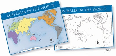 Australia In The World Map Chart