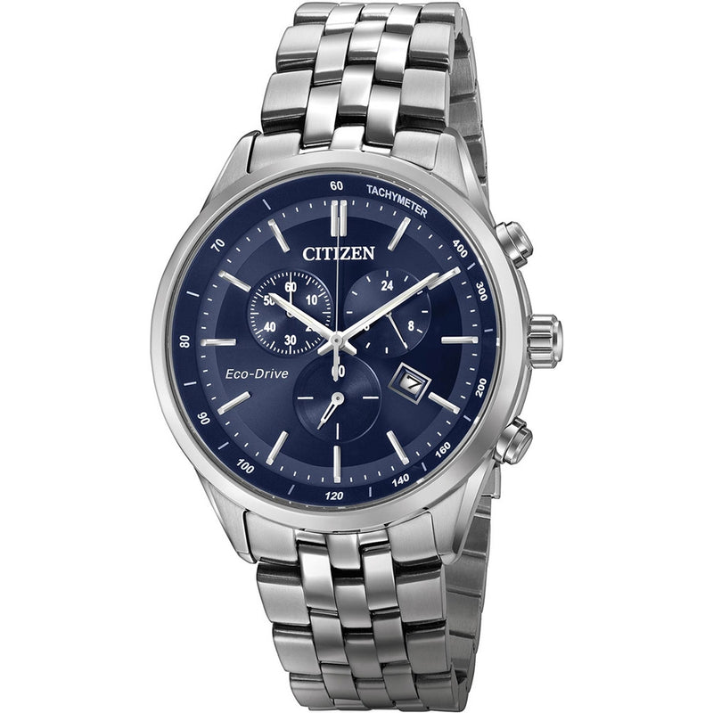 Citizen Sapphire Collection Eco-Drive Blue Dial Chrono Men's Watch