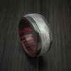 William Francis Damascus Steel Ring with Wood Interior Sleeve 6mm