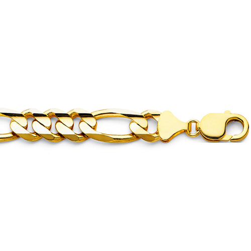 William Francis 14K Yellow Gold Figaro Chain Necklace 12mm