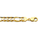 William Francis 14K Yellow Gold Figaro Chain Necklace 11mm