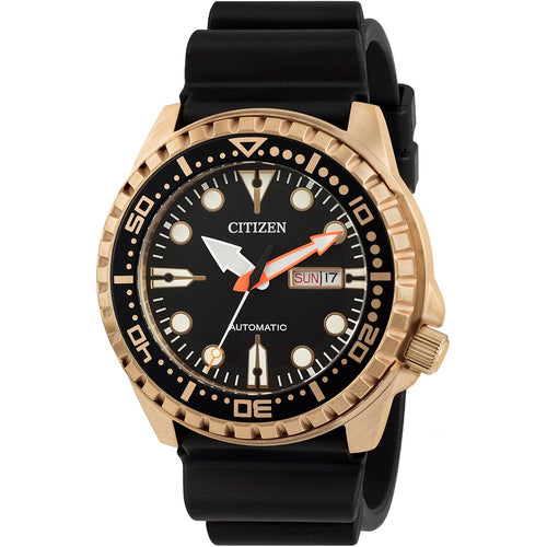 Citizen Marine Sport Men's Analogue Automatic Watch with Rubber Buckle Strap NH8383-17EE