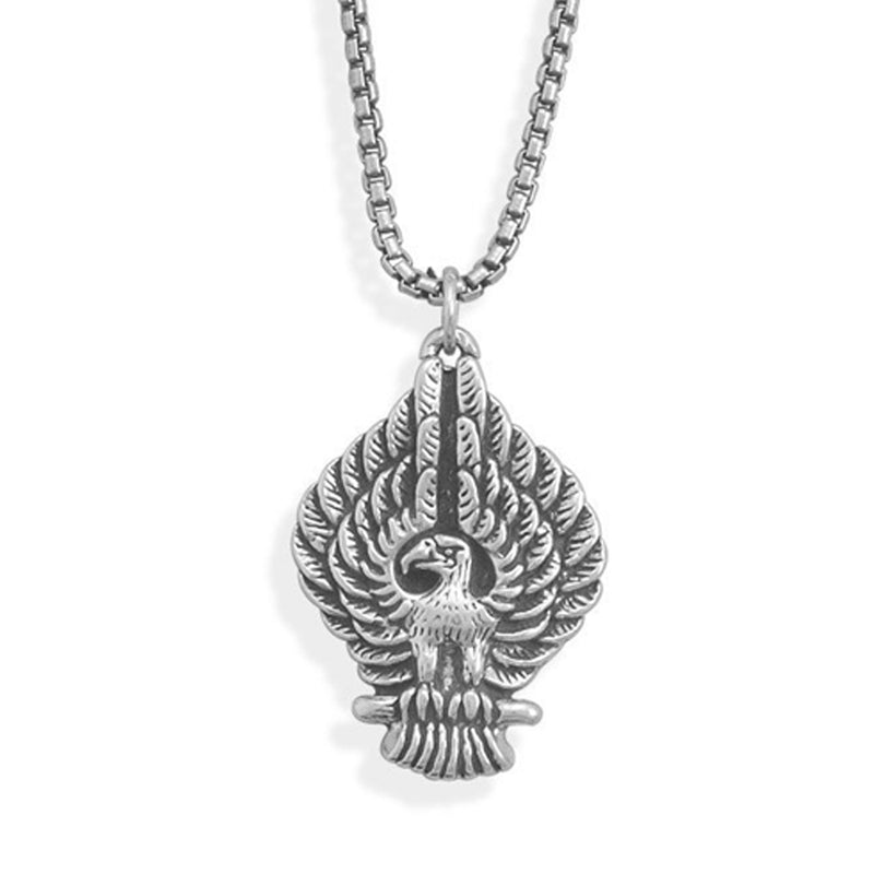 William Francis American Eagle Sterling Silver Men's Necklace