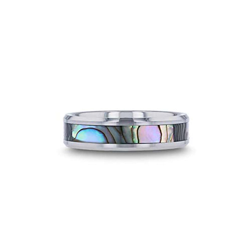 Mens-Mother-Of-Pearl-Wedding-Bands-Tungsten-Rings-For-Men-Comfort-Fit-Custom-Engraving