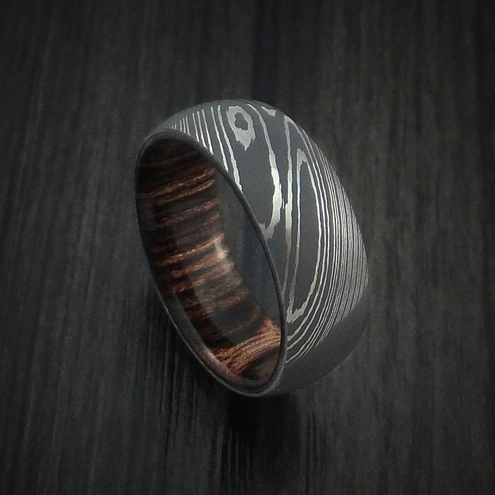 William-Francis-Men's-Damascus-Steel-Ring-Hardwood-Interior-Sleeve-6mm-1