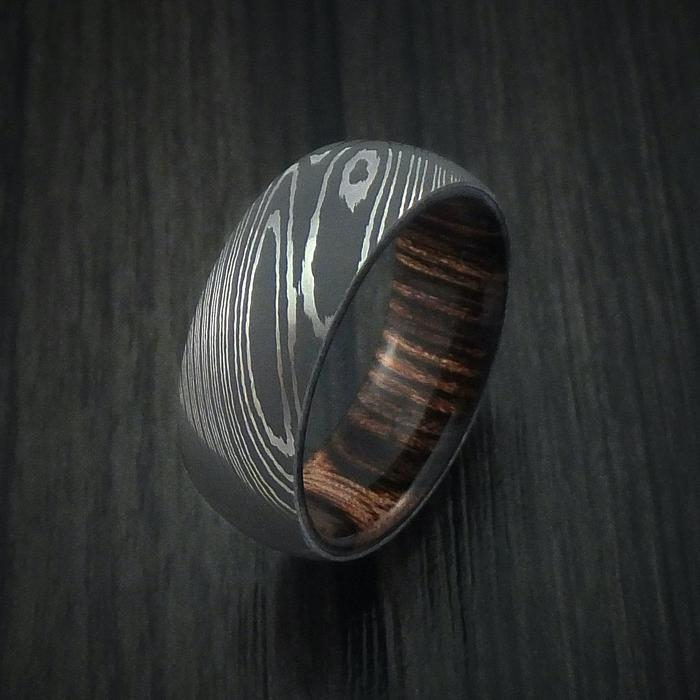 William-Francis-Men's-Damascus-Steel-Ring-Hardwood-Interior-Sleeve-6mm-4