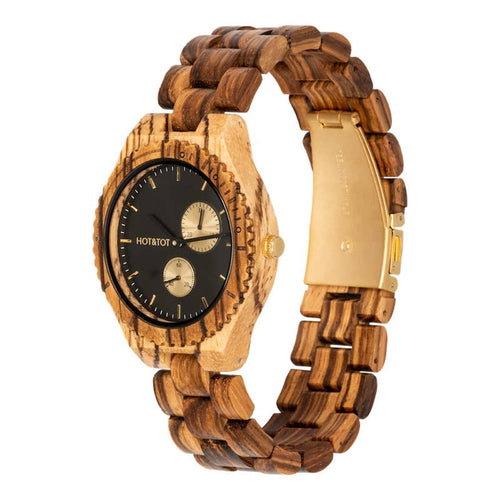 HOT & TOT CHRONOS Mens Chronograph Wood Watch 44MM