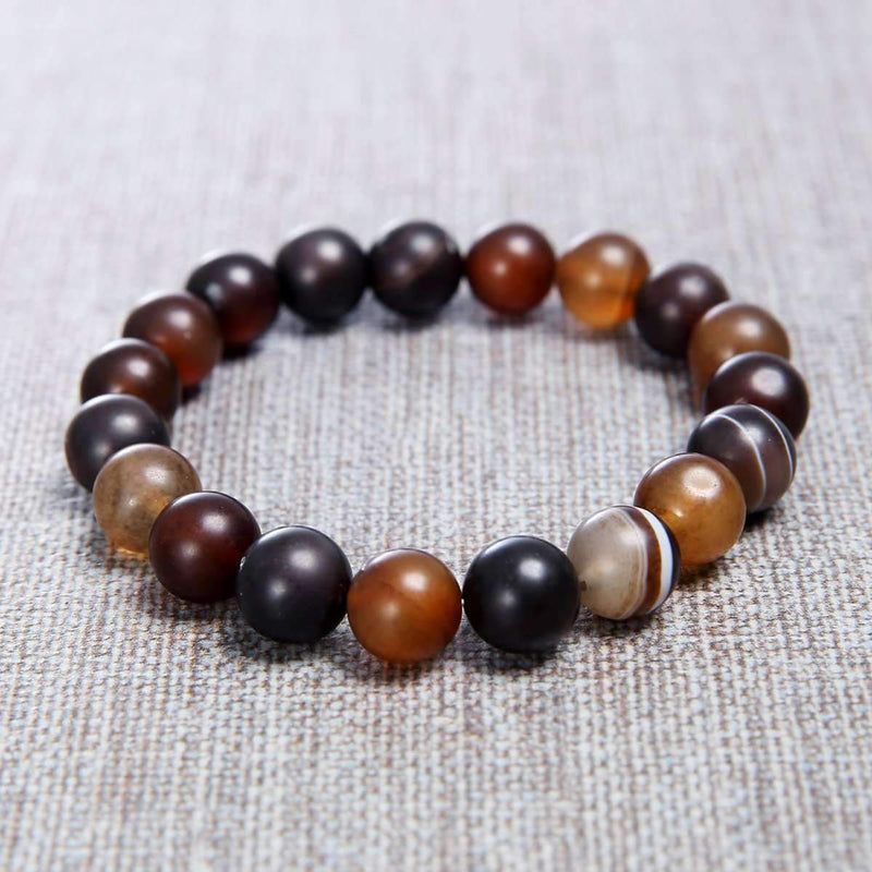 Mad Man Aiden Bead Bracelet Multi-Color Stone Mens Beaded Bracelet