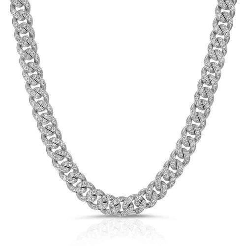Gold Gods Men's Diamond Miami Cuban Link Chain 18k Gold 8mm